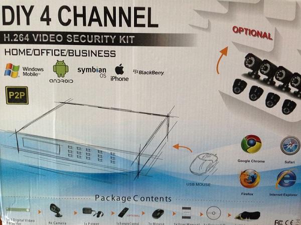 Комплект видеонаблюдения DIY 4 CHANNEL