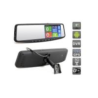 Зеркало заднего вида со встроенным навигатором GPS и видеорегистратором Full HD на базе Android 4.4.2 AVIS AVS0588DVR